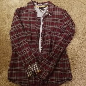 Tommy collar blouse.